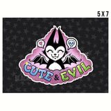 Cute and evil - Print on matte paper