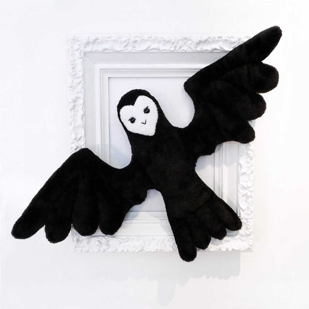 Night Bird - Super soft and cuddly black and white sleeping pal