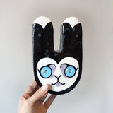 Papier Mache Bunny Head Sculpture