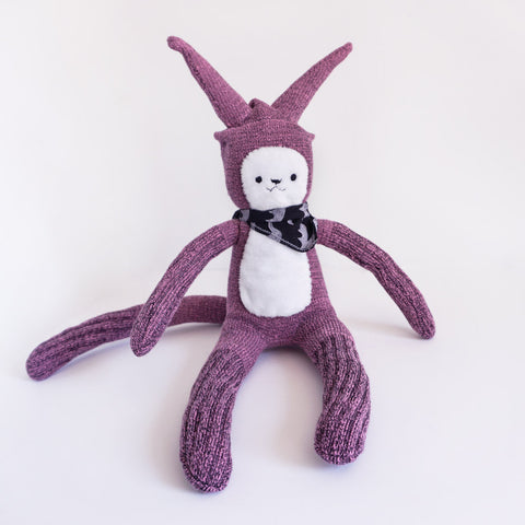 Sock Monster -A soft pink monster doll