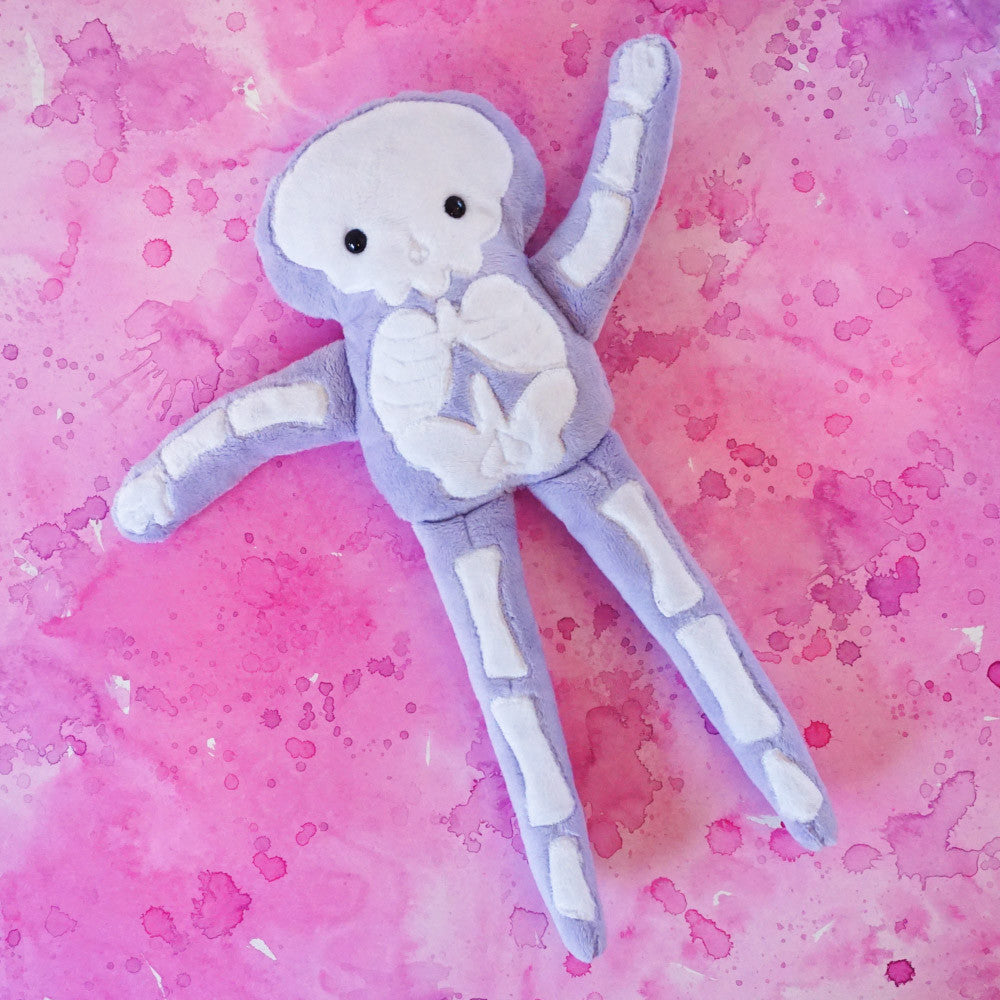 Stuffy Skeleton -Super Soft Minkie in Light Purple
