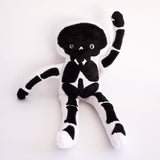 Stuffy Skeleton -Super Soft Minkie White and Black doll