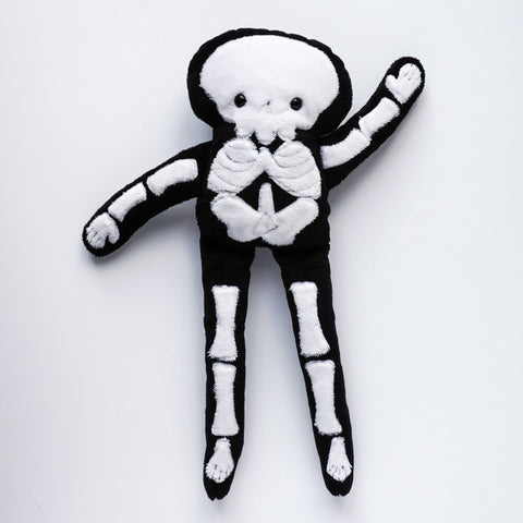 Stuffy Skeleton -super soft minkie fabric plush dol