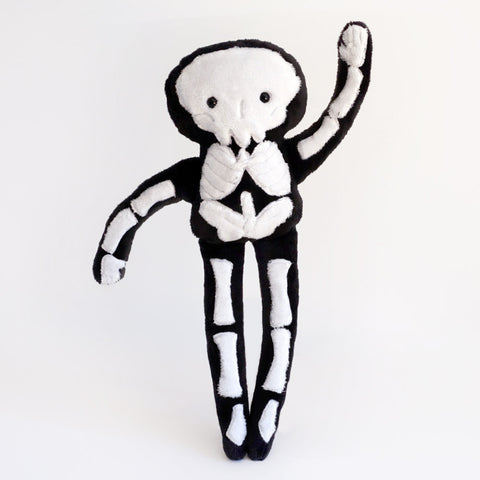 Stuffy Skeleton -super soft minkie plush doll