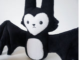 Soft Batcat -Super soft and cuddly black and white sleeping pal