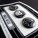 Winged Batcat Pin Set