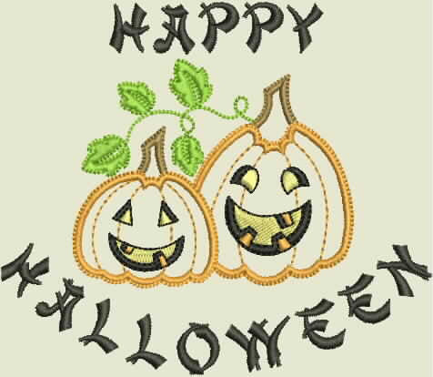 H1001 Happy Halloween - KLD Embroidery Designs
