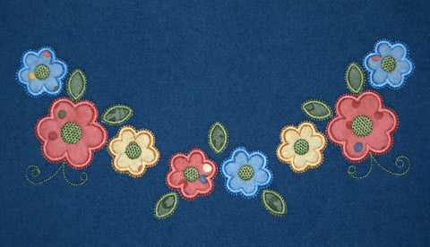 YCI1002 Floral Yoke and Collar Applique/ Includes two styles