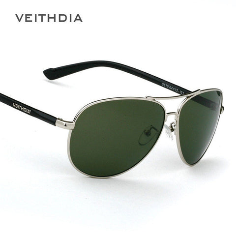 Men's Polarized Green Tint Sunglasses