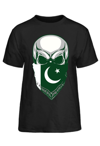 Pakistan Skull With Bandana