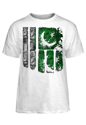 Pakistan Flag Graffiti Tee