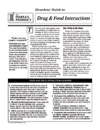 Drug & Food Interactions