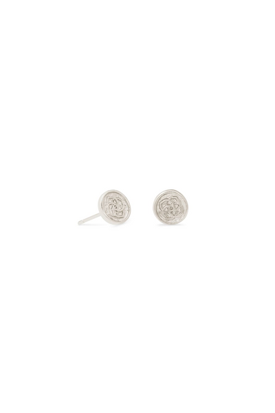 Dira Coin Stud Earrings In Silver - Kendra Scott