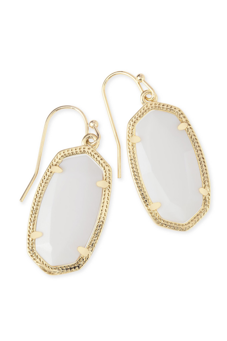 Dani Gold Drop Earrings In Ivory Mother-of-Pearl - Kendra Scott