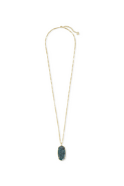 Faceted Reid Gold Long Pendant Necklace In Green Apatite - Kendra Scott