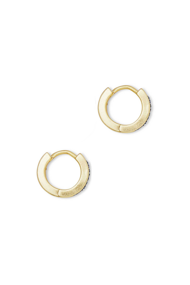 Jack Gold Huggie Earrings In Multi Crystal - Kendra Scott