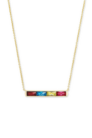 Jack Gold Pendant Necklace In Multi Crystal - Kendra Scott