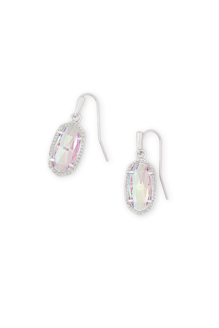 Lee Silver Drop Earrings In Dichroic Glass - Kendra Scott