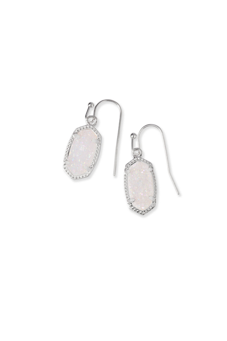 Lee Silver Drop Earrings In Iridescent Drusy - Kendra Scott