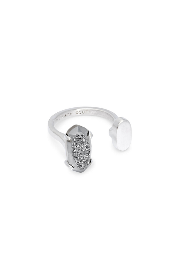 Pryde Silver Open Ring Platinum - Kendra Scott