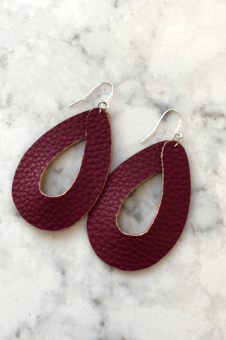 Handmade Dark Mauve Earrings