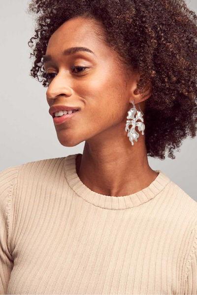 Savannah Drop Earrings In Vintage Silver - Kendra Scott