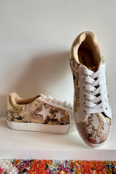Gold Python Sneakers *FINAL SALE*