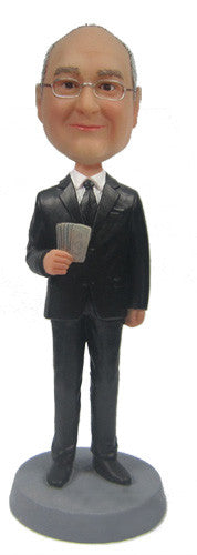 Cash Man Businessman Bobblehead #5