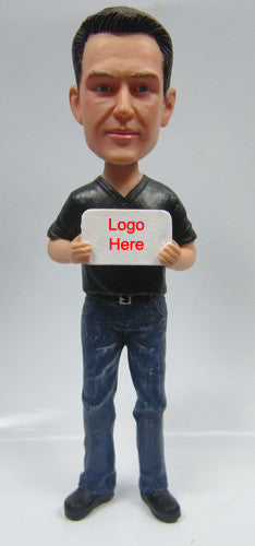 Sign Holding Male Bobblehead
