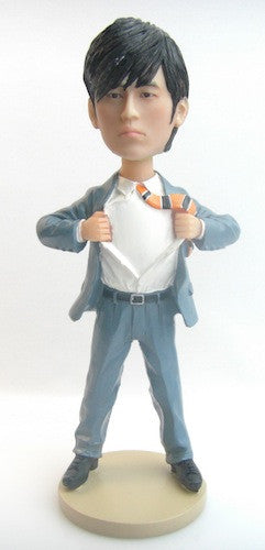 Custom Super Company Logo Man Bobblehead #2