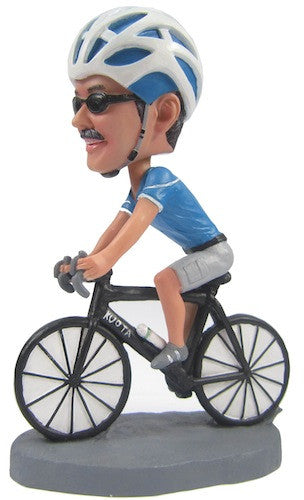Custom Male Cyclist Bobblehead