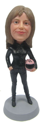 Racer Female Bobblehead