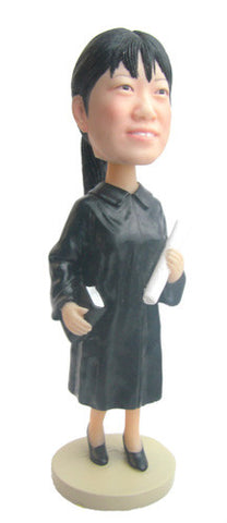 Graduation Female Bobblehead #1