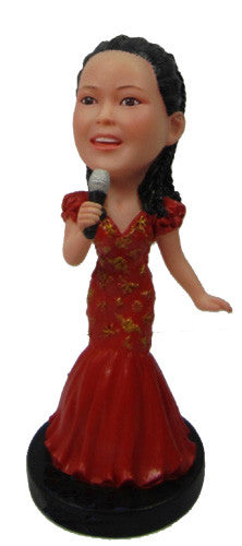 Female Singer Bobblehead #2