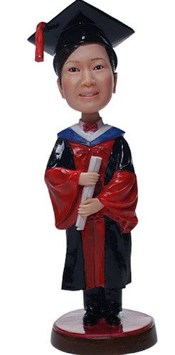 Graduation Female Bobblehead #2
