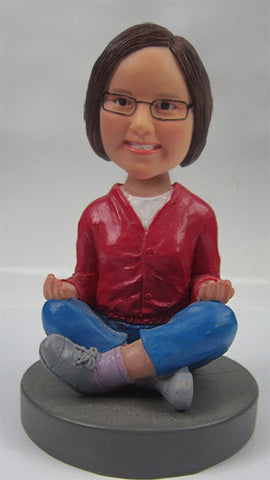 Yoga Female Bobblehead #1