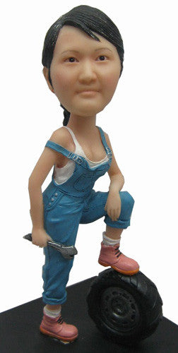 Female Mechanic Bobblehead
