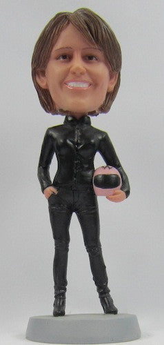 Female Motorcycle Rider Bobblehead