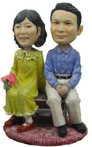 Classic Collectable Styled Couple Bobbleheads #1