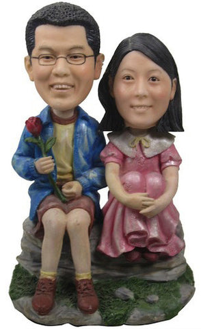 Classic Collectable Styled Couple Bobbleheads #3