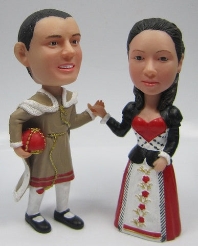 King and Queen Of Hearts Bobbleheads