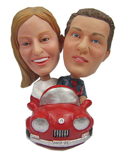 Couple in Car Bobbleheads #3