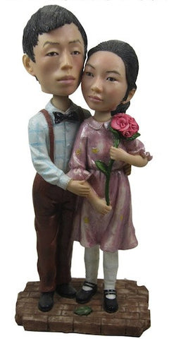 Classic Collectable Styled Couple Bobbleheads #4