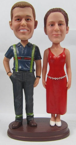 Classic Collectable Styled Couple Bobbleheads #7