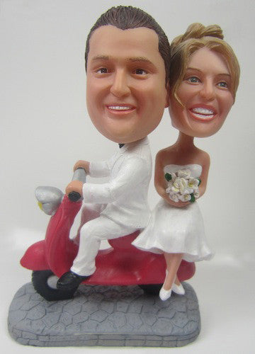 Couple on Scooter Bobblehead