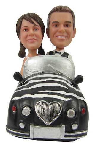 Couple in Car Bobbleheads #2