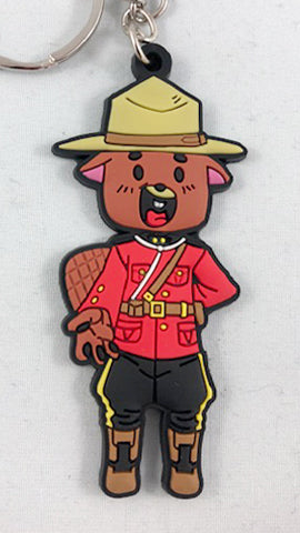 Official Beaver Mounties Keychain