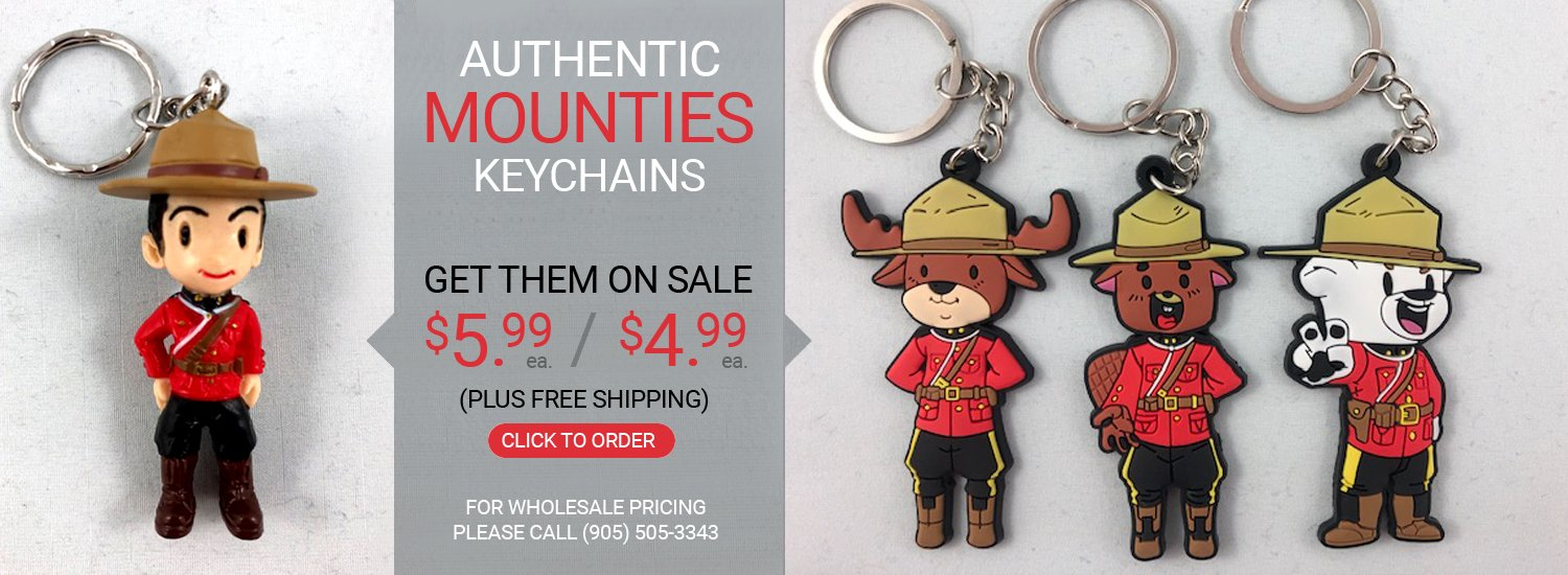 Get your Official Mounties keychains