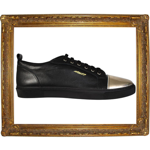 Black Gold Cap Toe Low Sneaker