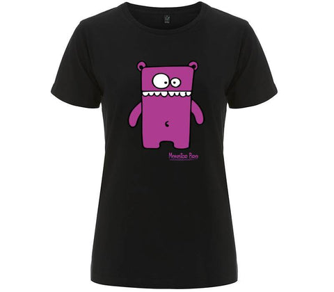 "Monster Bro ""Beary"" Rosso - T-shirt Donna"